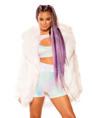 Ombre Light-Up Fuzzy Jacket