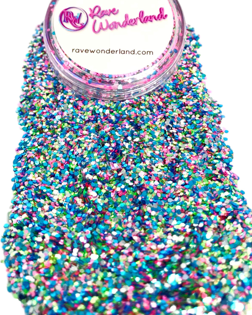 Confetti Rainbow Iridescent Body and Face Festival Glitter (Large 15 Grams)
