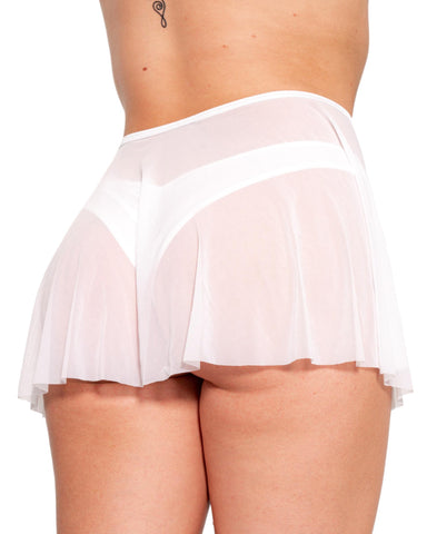 Spin Me Round Mesh Tie Skirt (Available In 6 Colors)