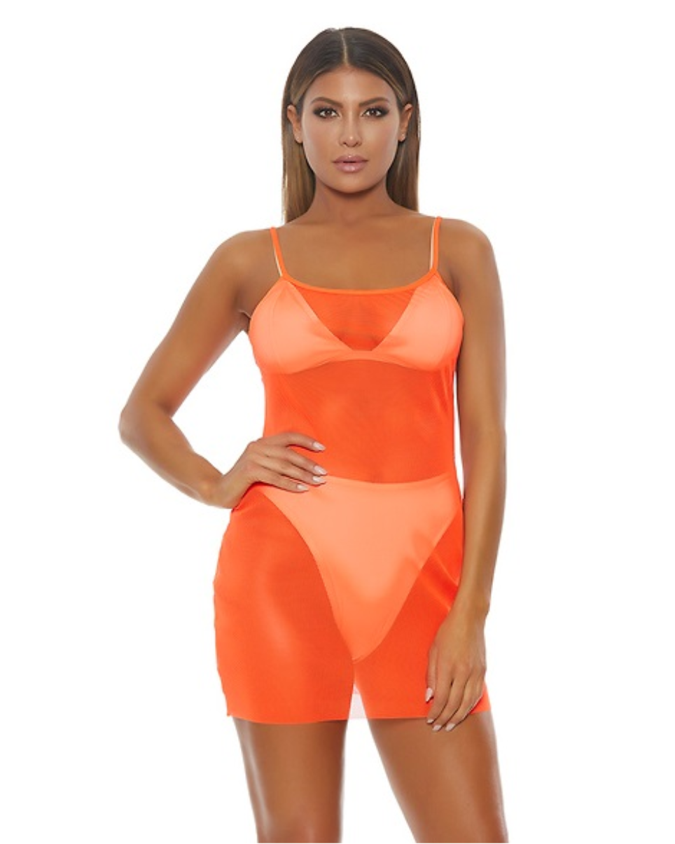 Mesh Cami Mini Dress