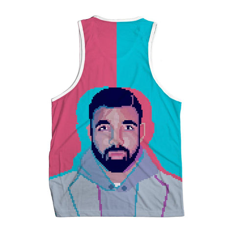 Drake 8BIT Men's Tank Top -  rave wear, rave outfits, edc, booty shorts