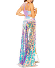 Payette Jumbo Sequins Harness Gypsy Long Skirt