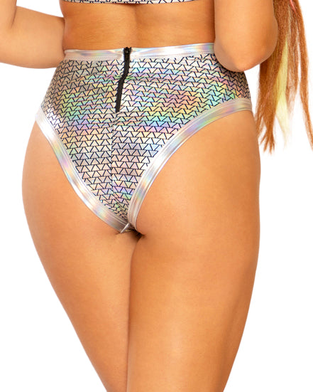 Holographic Pyramid High Cut Bottoms