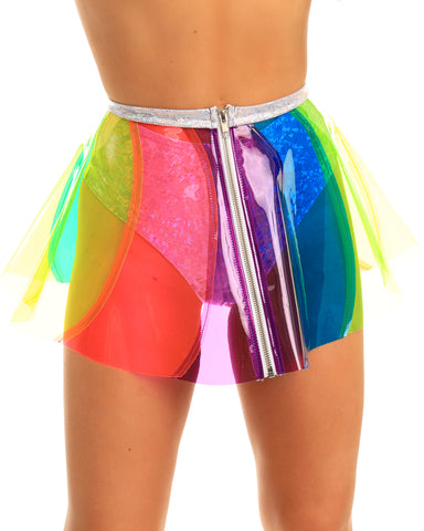 Beach Ball Rainbow Vinyl Pinwheel PVC Skirt