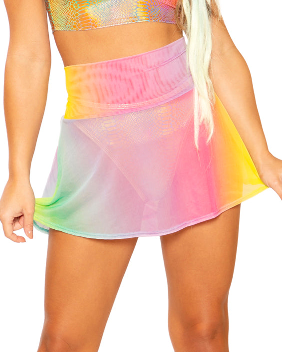 Super Soft Pastel Rave Skater Skirt