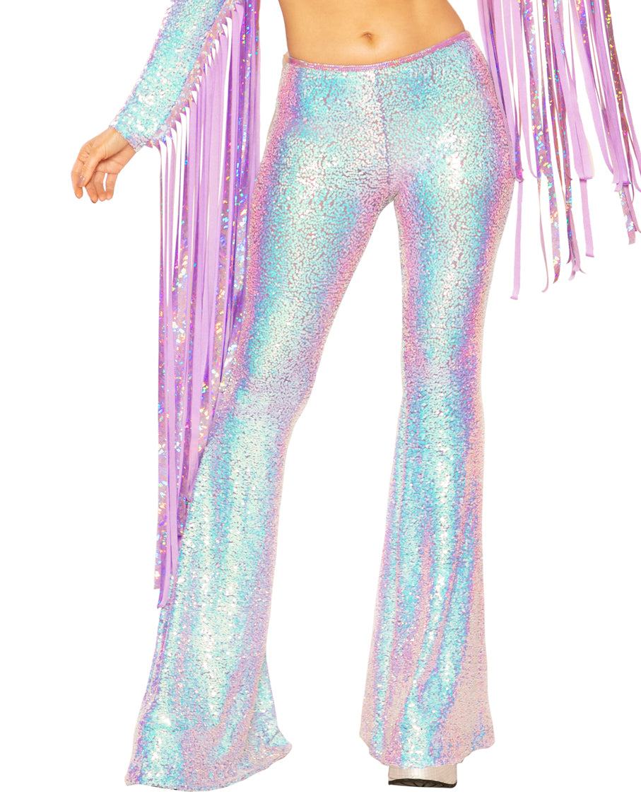 Cosmic Dreams Sequin Bell Bottoms