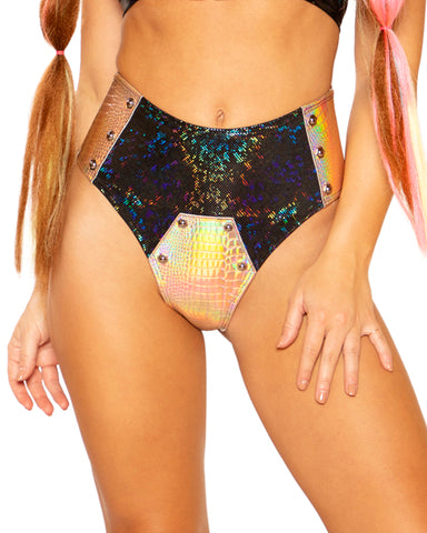 Industrial Bolted Shimmer Rave Shorts