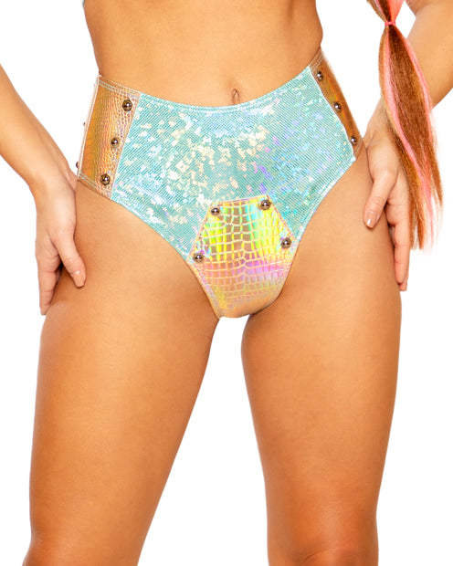 Bolted Two-Tone Holographic Shorts