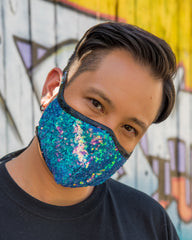 HANDMADE TO ORDER: Sequin Tailored Mask