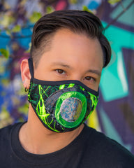 HANDMADE TO ORDER: Lightning Eyeball Tailored Mask