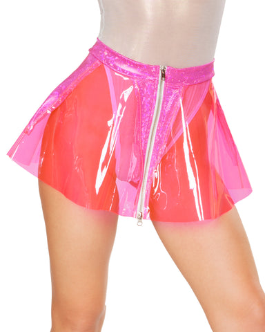 Holographic Trim PVC Rave Skirt