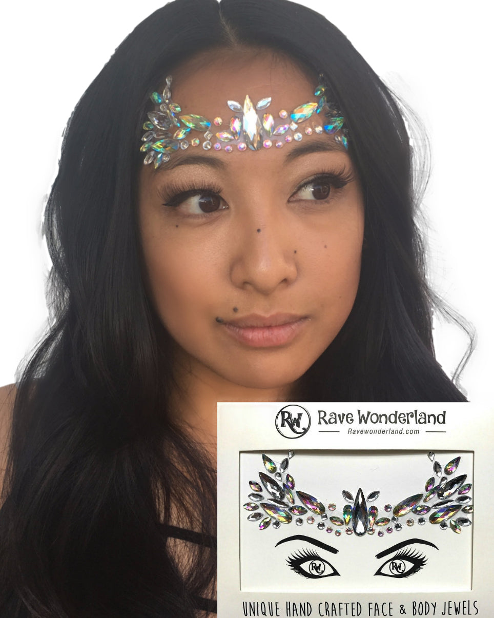 Fairy Empress Festival Face Jewels -  rave wear, rave outfits, edc, booty shorts