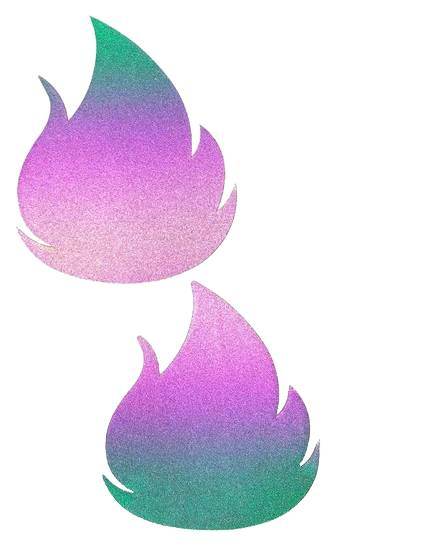 Flash Reflective Multicolor Flirty Flame Pasties