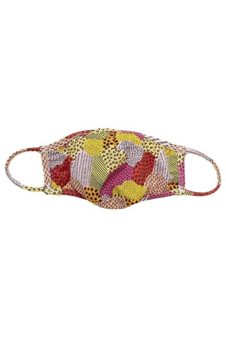 Geo Patchwork Surgical Face Mask With Filter