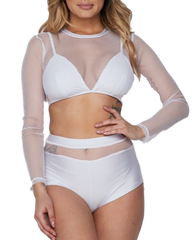 Be Alright Fishnet Swimsuit