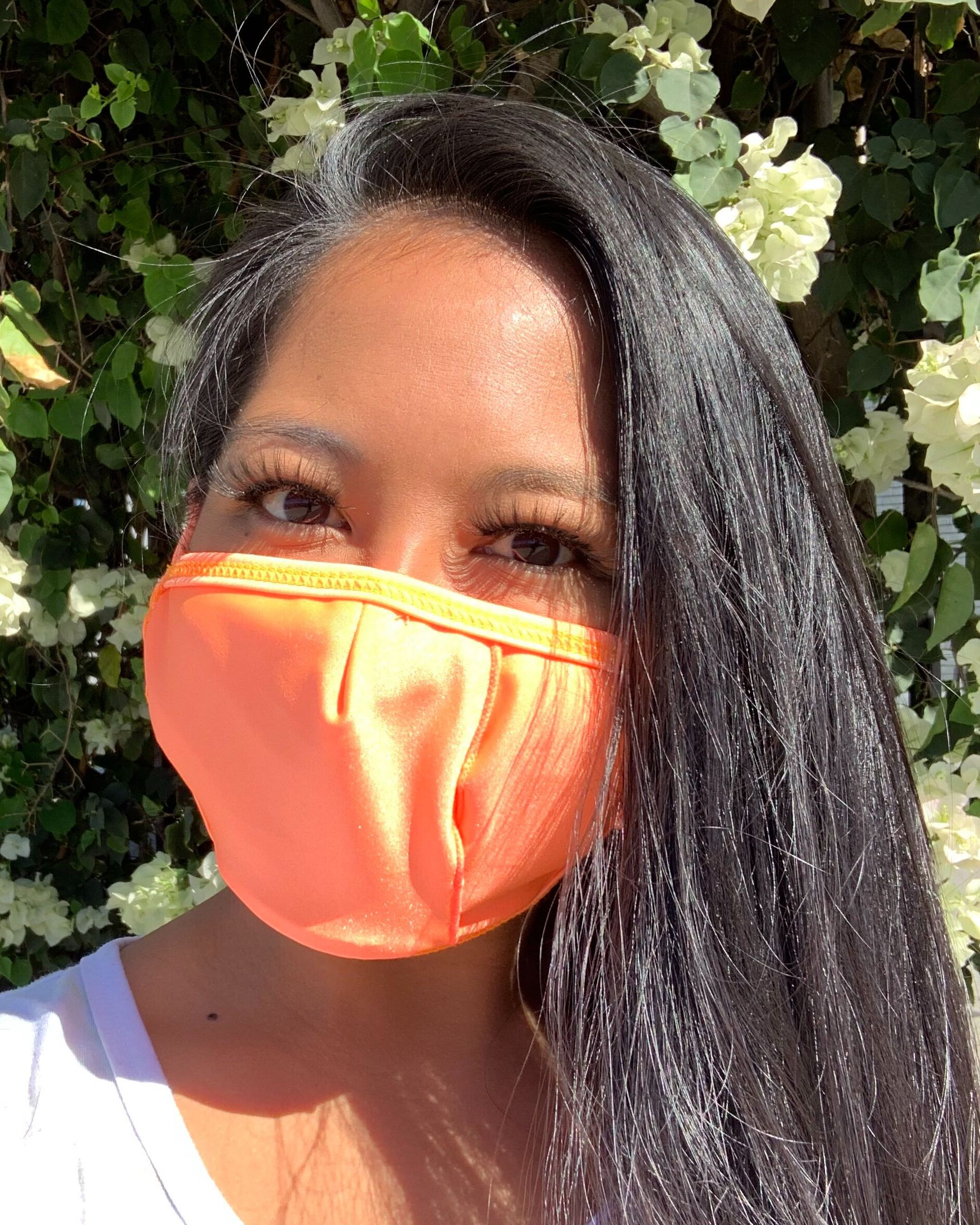 Neon Orange Face Mask With Filter