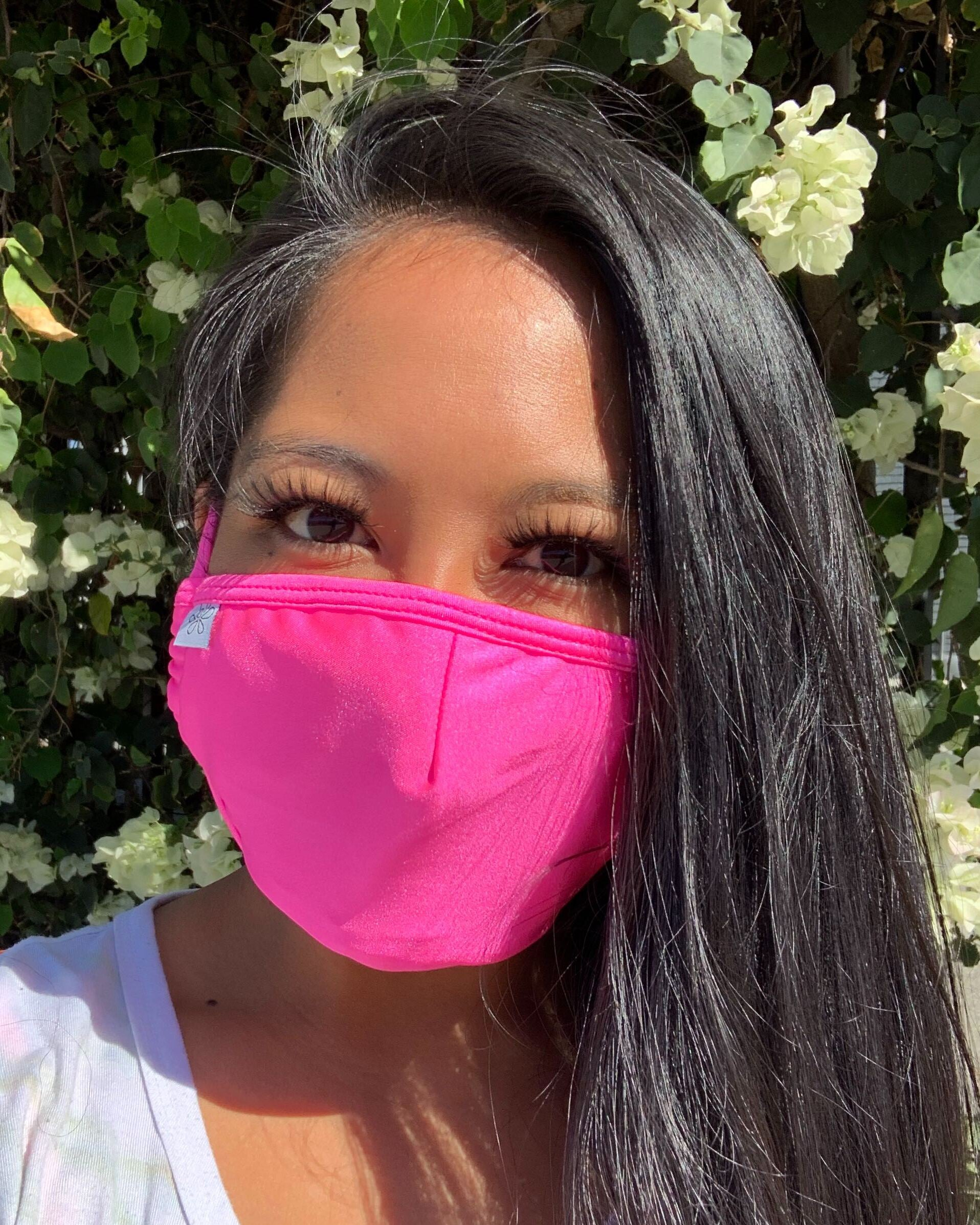 Hot Pink Face Mask With Filter