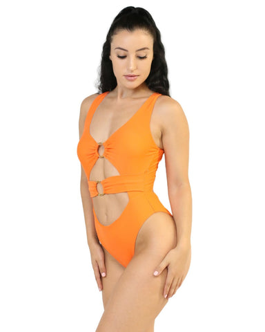 Sunset Hearts O-Ring Monokini