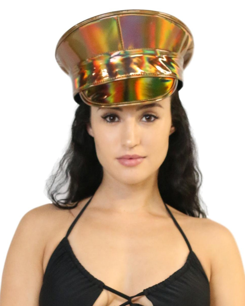 Gold Rainbow Captain Hat