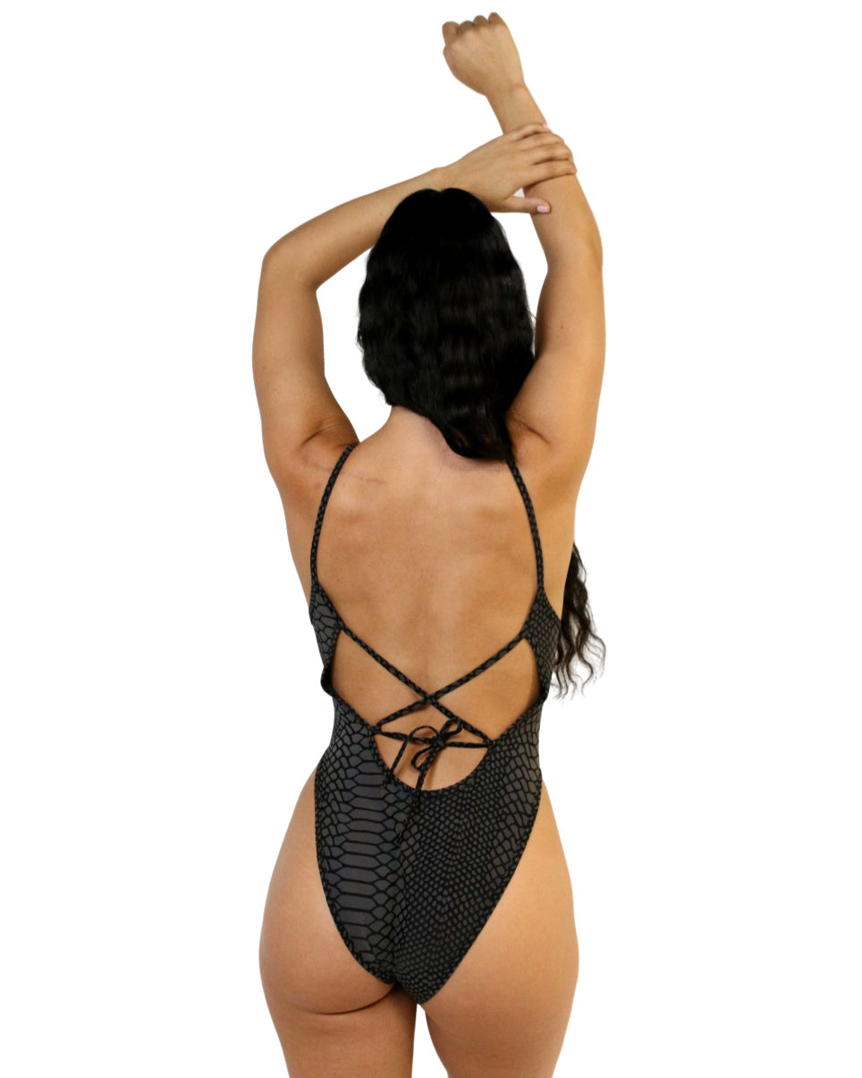 Flash Viper Reflective High-Cut Bodysuit