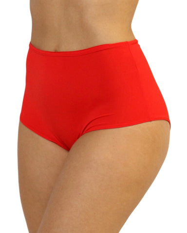 Red High Waist Shorts