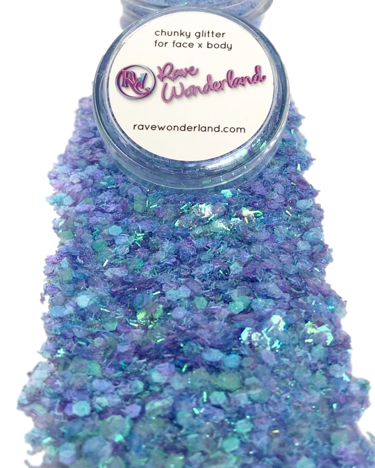 Iridescent Blue Mermaid Chunk Body and Face Festival Glitter (Large 15 Grams)