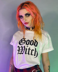 Good Witch White Basic Tee