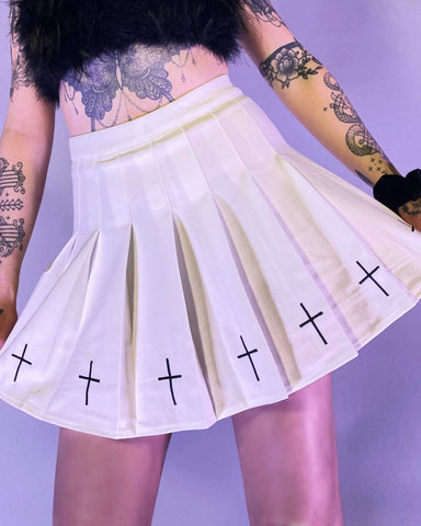 Worship Me Pleated Skirt