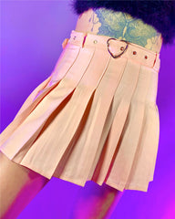 Just a Crush Pleated Skirt
