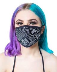 Geo Madness Reflective Face Mask