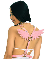 Heaven Sent Faux Leather Wings Harness
