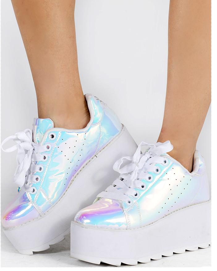 YRU Lala Atlantis Platform Rave Shoes