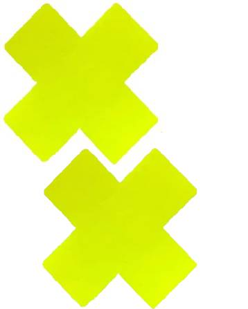 Lemon Vinyl Yellow X Factor Blacklight Reactive Pasties