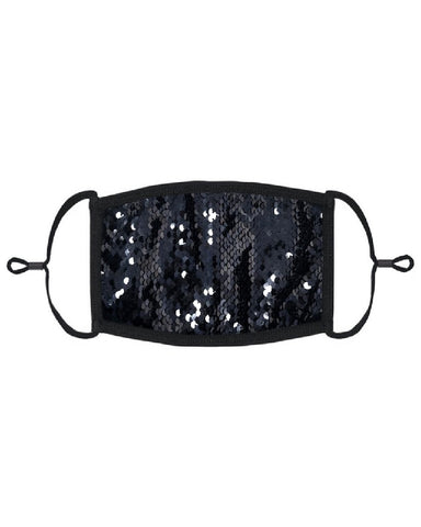 Onyx Black Sequin Mask with Filter