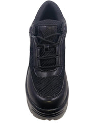YRU Matrixx Black Platform Sneakers