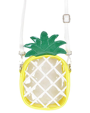 Clear Pineapple Clutch