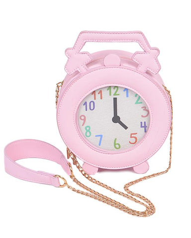 Wake Up Call Clock Clutch
