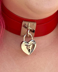 Key to My Heart Faux Leather Choker