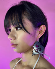 Melt My Mind Skull PVC Earrings
