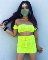 As If Neon Lime Knit Set