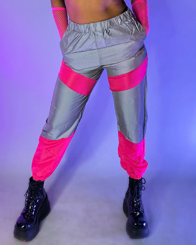 Fluorescent Reflective Contrast Joggers