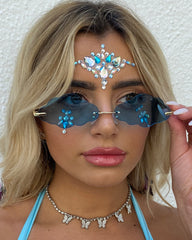 Blue Magic Festival Face Jewel