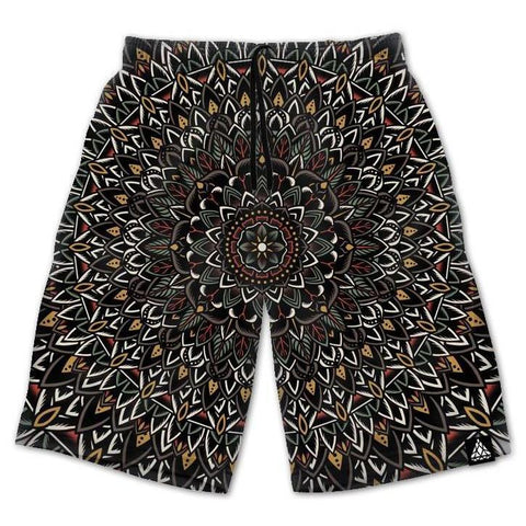 Set 4 Lyfe / Mule - FLOWER MANDALA SHORTS - Clothing Brand - Shorts - SET4LYFE Apparel