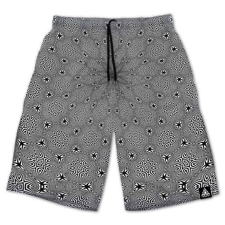Set 4 Lyfe / Rooz Kashani - OPTICAL STAR VORTEX SHORTS - Clothing Brand - Shorts - SET4LYFE Apparel