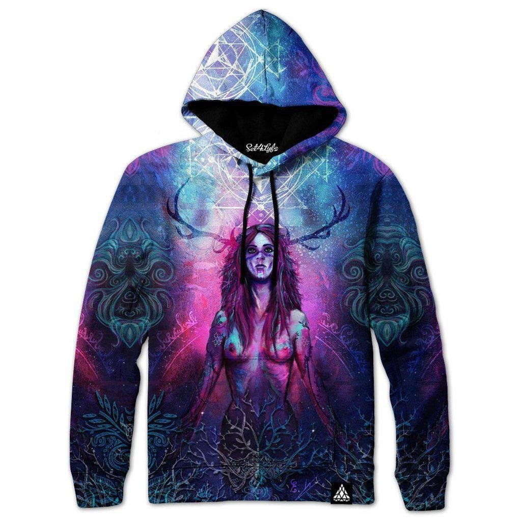 Set 4 Lyfe / MiL Et Une Art - BLOSSOMING UNIVERSE HOODIE - Clothing Brand - Pullover Hoodie - SET4LYFE Apparel