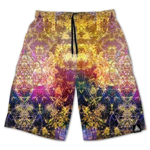 Set 4 Lyfe / DAQUALIA - PINEAL METATRON SHORTS - Clothing Brand - Shorts - SET4LYFE Apparel