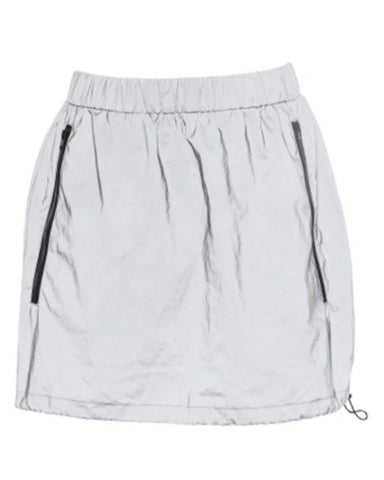 Reflektor Side-Zipper Reflective Mini Skirt