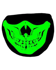 My What Big Teeth You Have! Glow in the Dark/Blacklight Reactive Black Surgical Mask