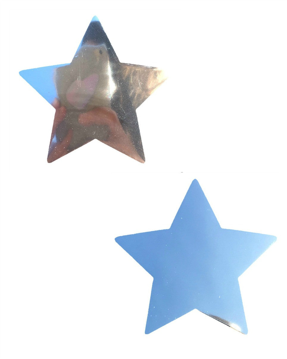 Silver Mirror Star Pasties