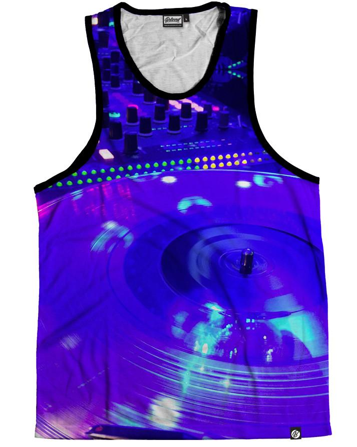 Turnt Table Men's Tank Top -  rave wear, rave outfits, edc, booty shorts